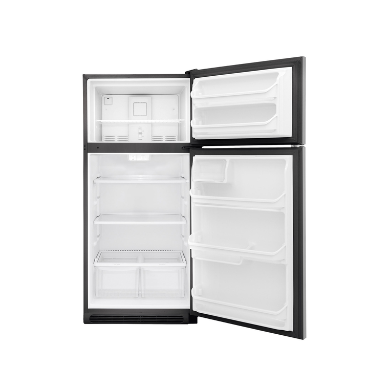 18 cu. ft. Top Mount Stainless Steel Refrigerator