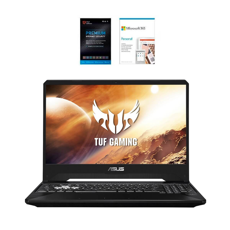 """15.6"""" TUF Gaming Laptop with AMD Ryzen 7 CPU, Microsoft 365 Personal & Total Defense Security"""