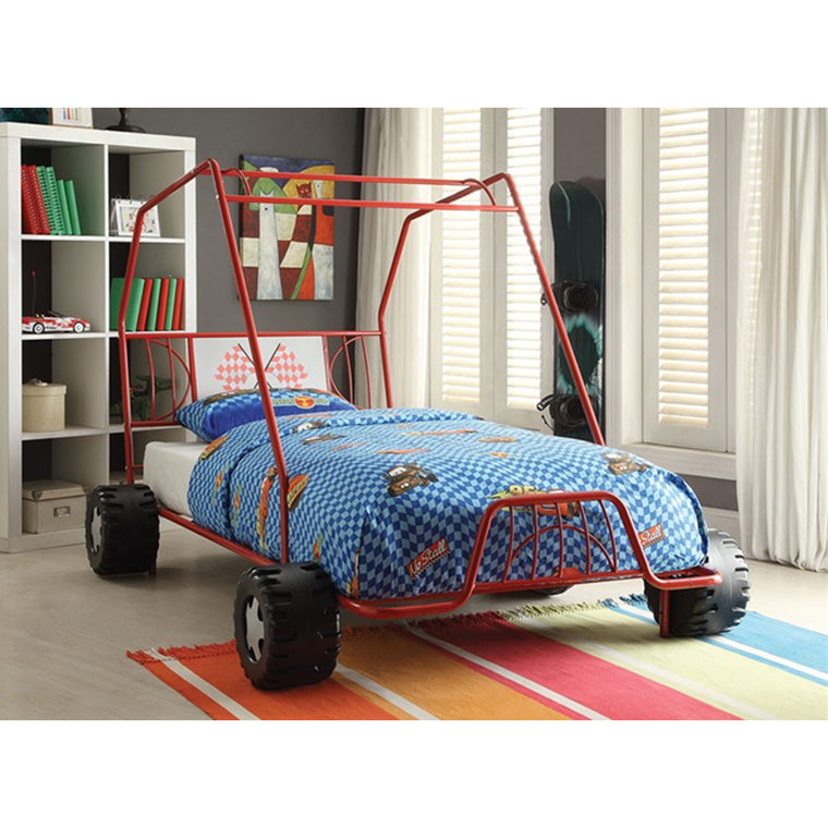 4-Piece Twin Go Cart Bed & Mattress Set