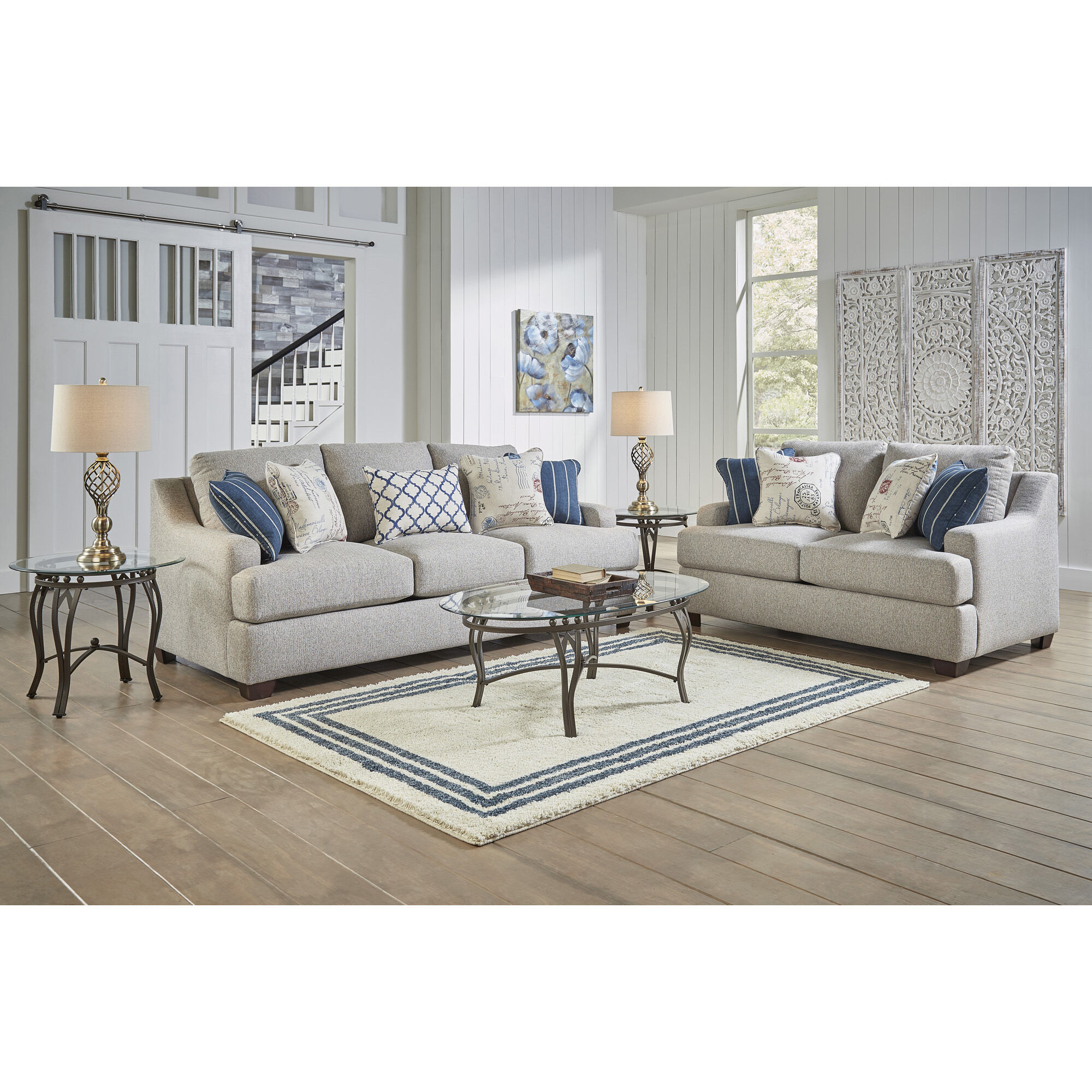 Superbe 2 Piece Flora Living Room Collection