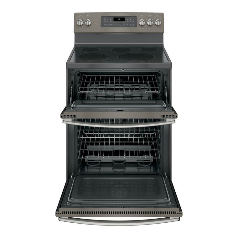 """30"""" Electric Double Oven Convection Range with Ceramic Cooktop - Slate"""