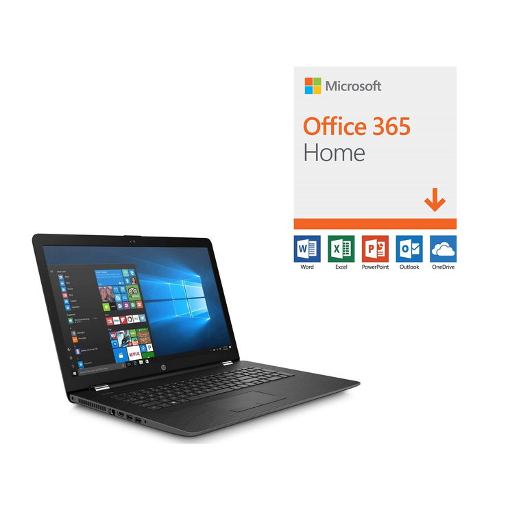 """17.3"""" Laptop with Microsoft Office 365 and Total Defense Internet Security"""