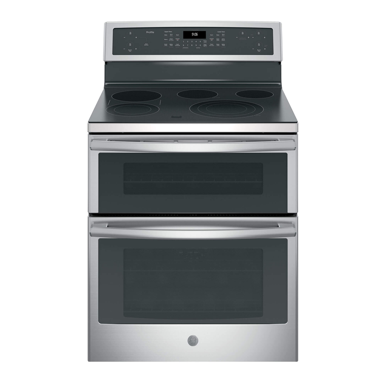 6.6 cu. ft. Self Cleaning Electric Double Oven Convection Range with Ceramic Cooktop - Stainless Steel