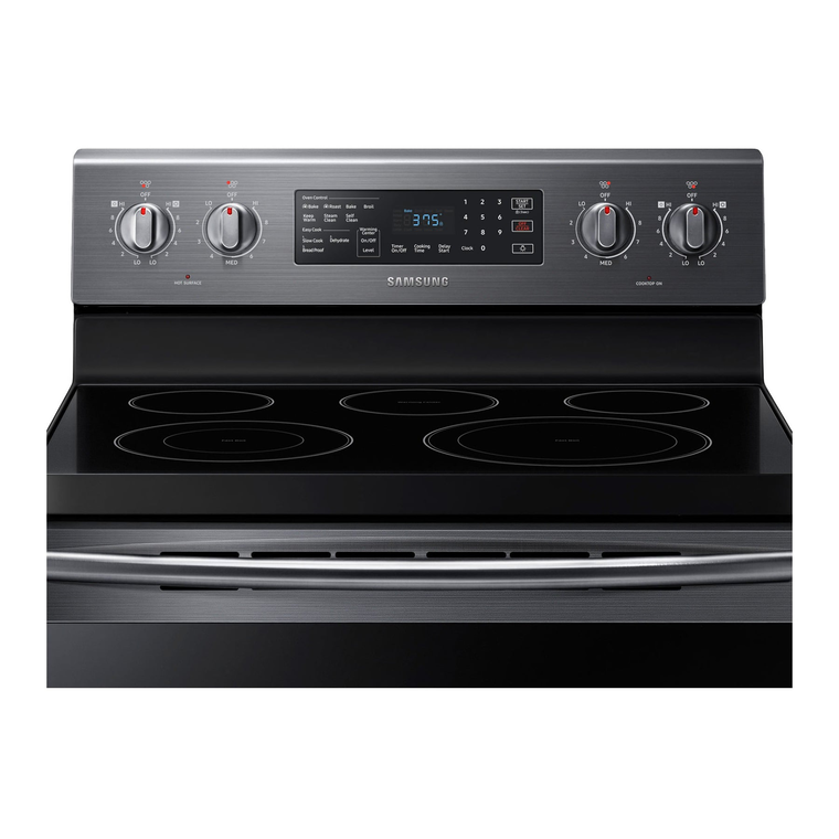 5.9 cu. ft. Convection Oven Ceramic Cooktop Electric Range - Black Stainless