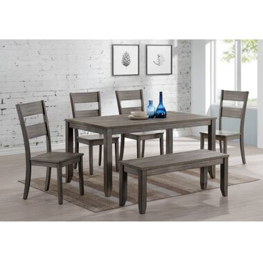 6-Piece Sean Dining Set with 4 Chairs & Bench