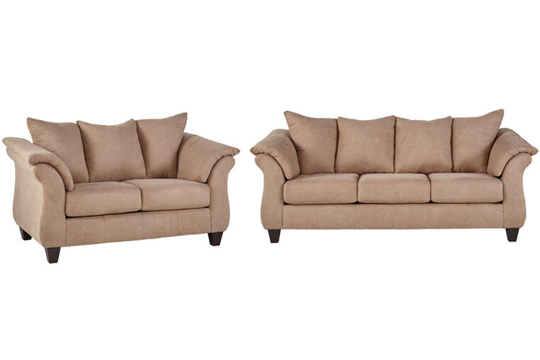 2-Piece Lucy Living Room Collection - Mocha