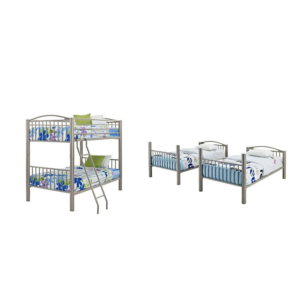 Powell Bedroom Groups 5 Piece Twin Metal Bunk Bed Collection