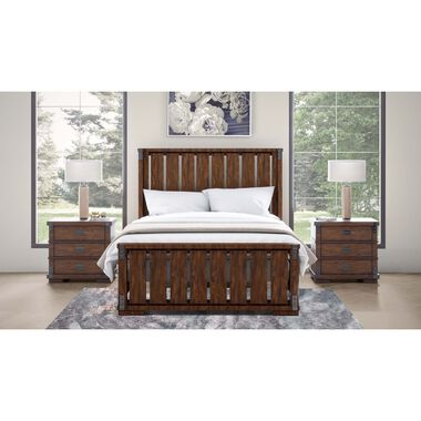 5-Piece Kingston King Bed with 2 Nightstands
