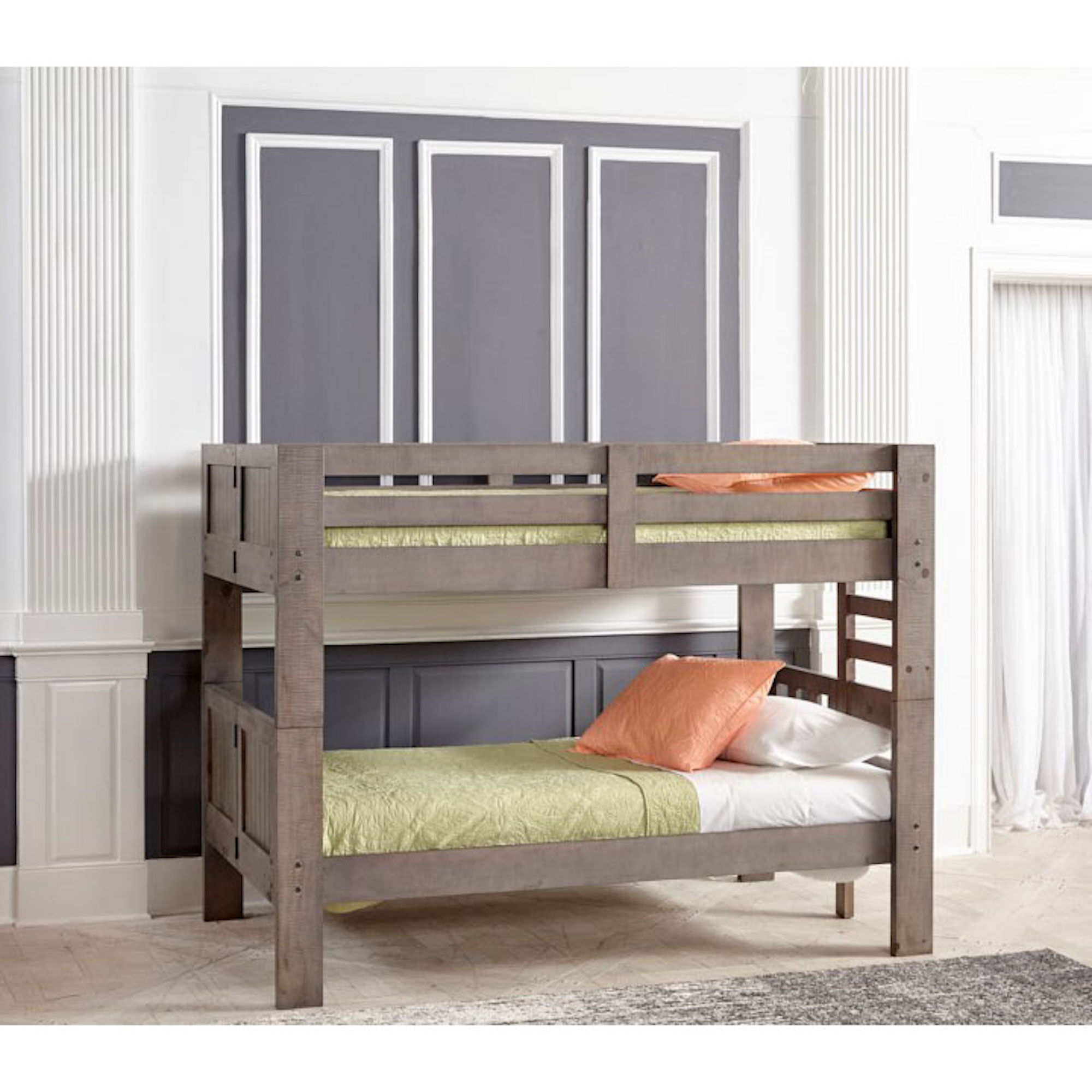 7 Piece Twin Bunk Bed With Staircase U0026 Mattress Set