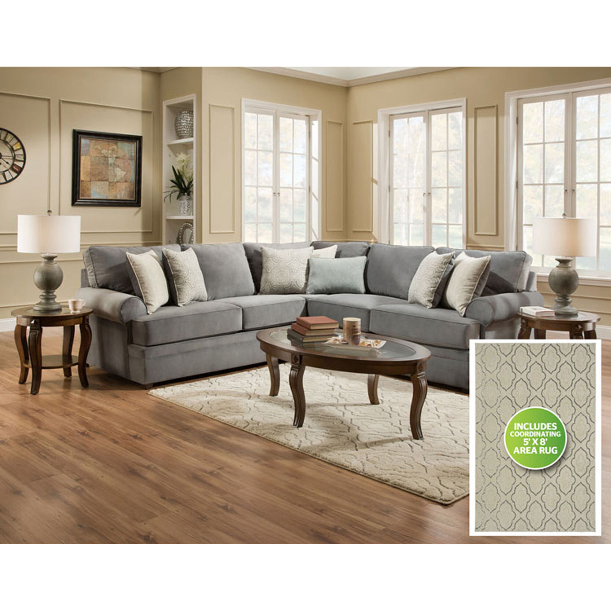Lovely 8 Piece Naeva Living Room Collection