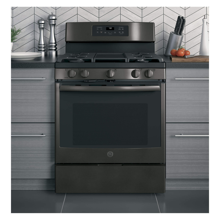 5.0 cu. ft. Self Cleaning Gas Convection Range - Black Stainless Steel