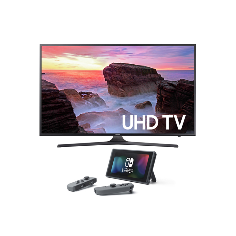 "55"" Class (54.6"" Diag.) Smart 4K UHD TV & Nintendo Switch Bundle 