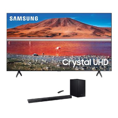 "65"" Class 4K UHD Smart TV & 320W 2.1Ch Sound Bar Bundle"
