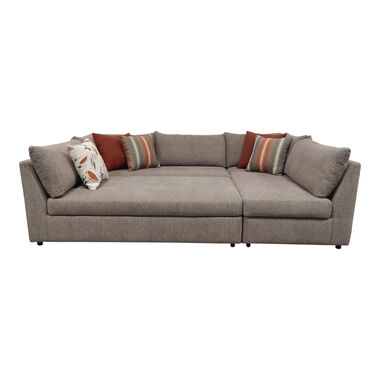 3-Piece Puzzle Chaise Sectional Sofa