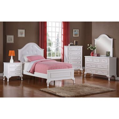6-Piece Jesse Twin Panel Bedroom Set with Nightstand