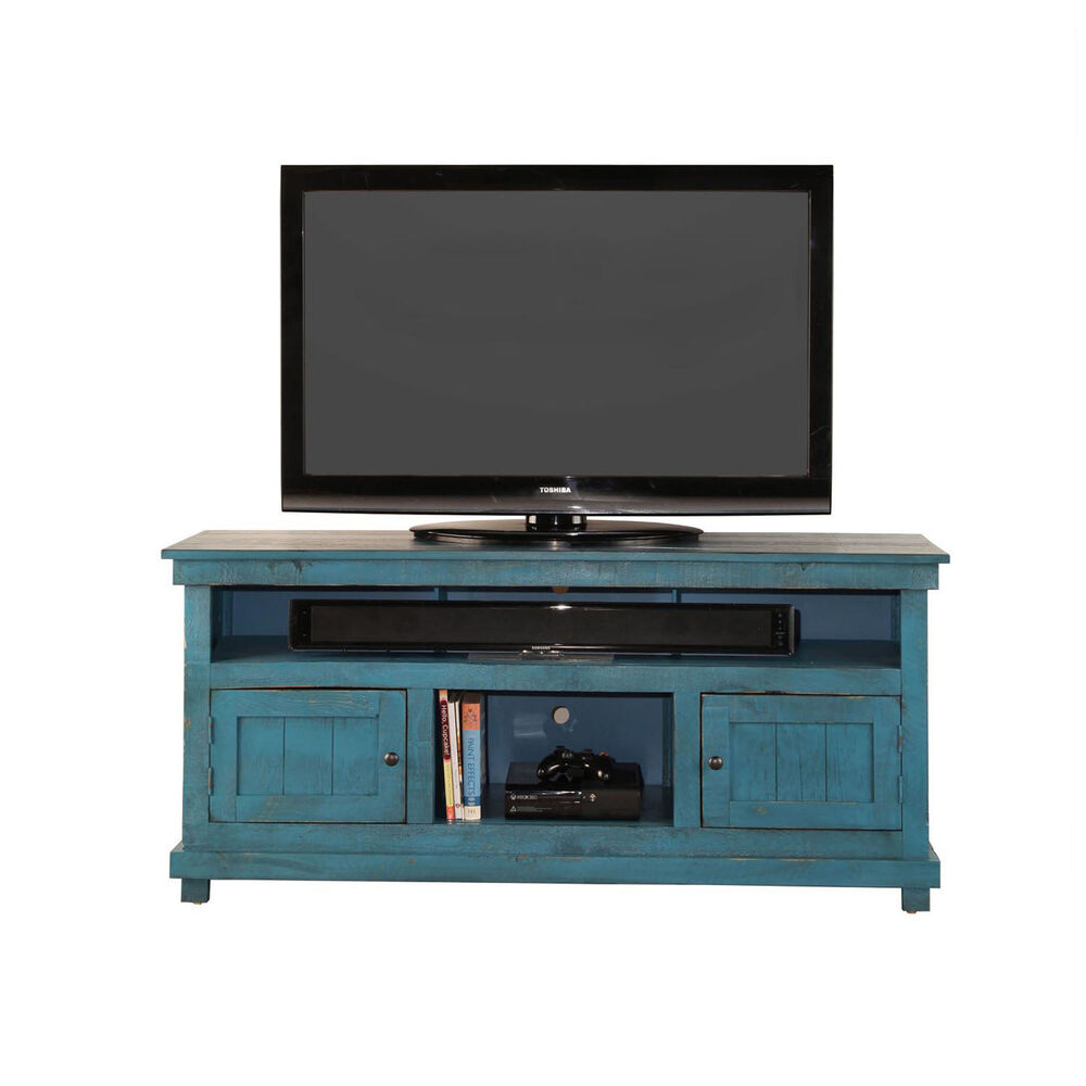 60 rustic tv stand blue - Entertainment Centers Tv Stands