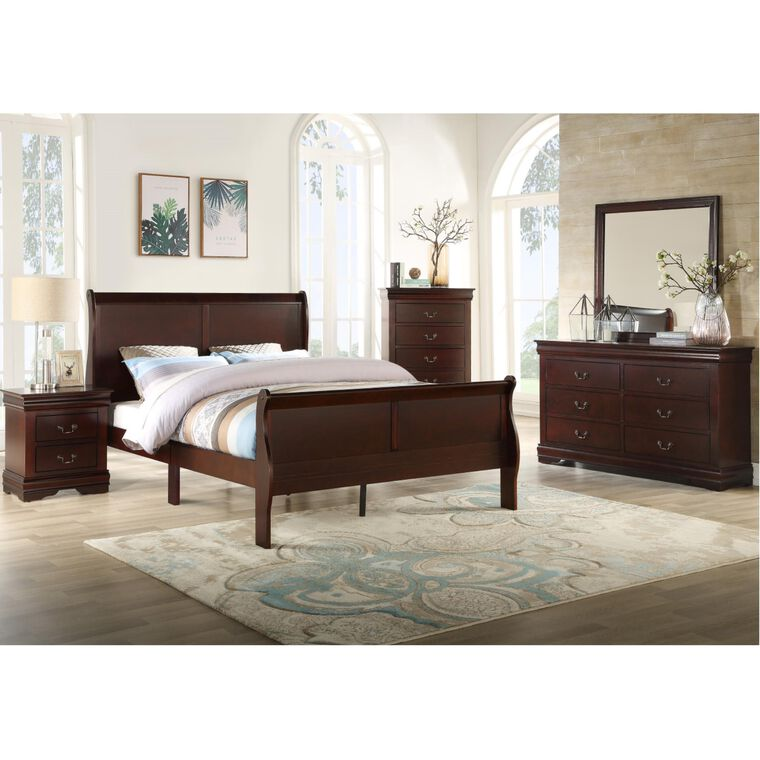 5-Piece Louis Phillip Bedroom w/Queen Bed