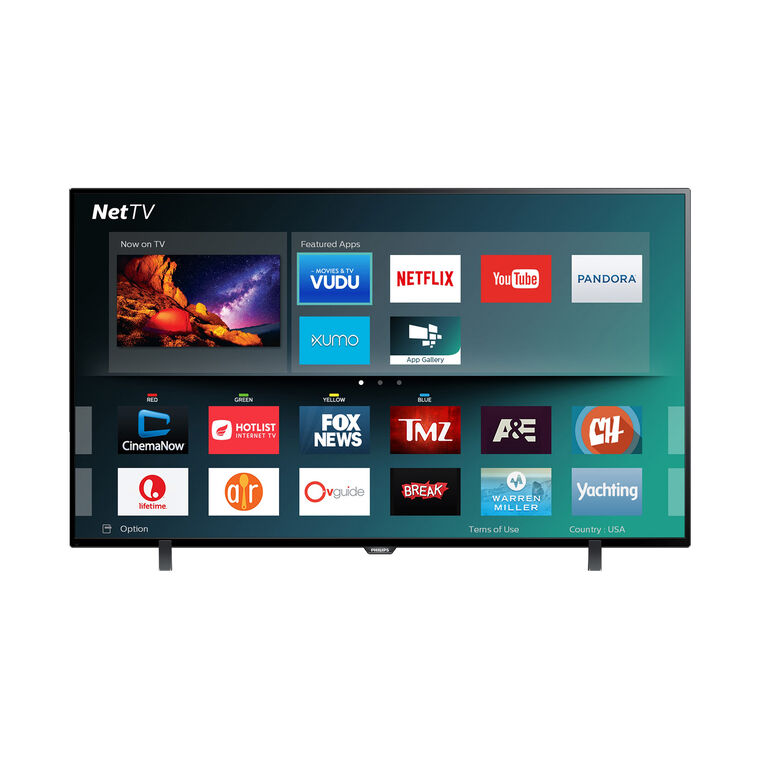 "55"" Class Philips Smart 4K UHD TV 120Hz 3HDMI Inputs"