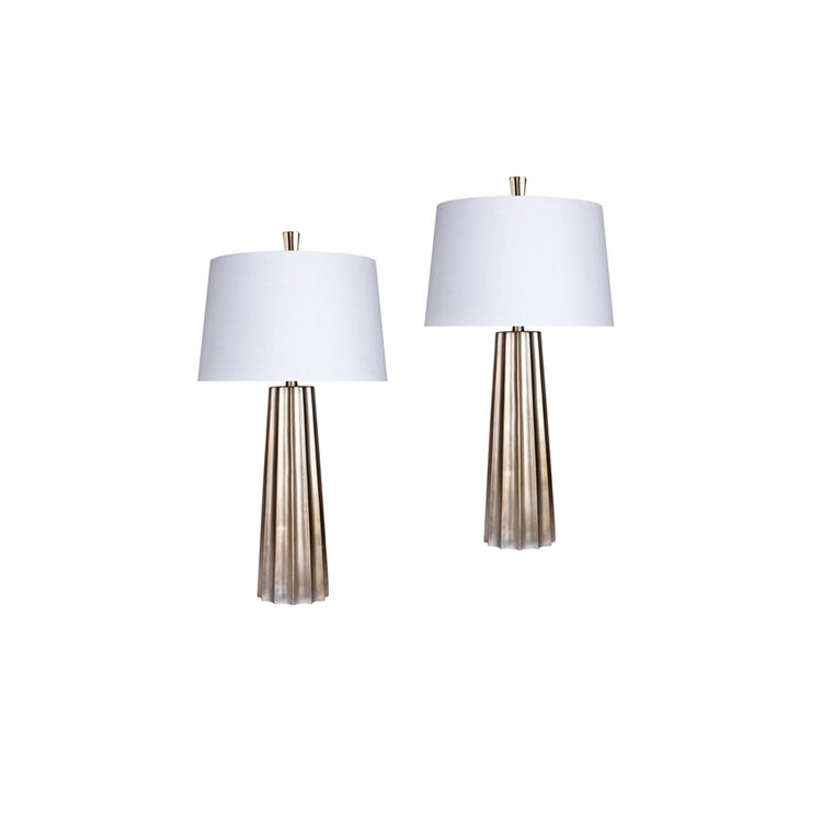 Golden Bronze Table Lamp (Set of 2)