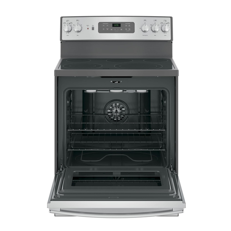 5.3 cu. ft. Self Cleaning Electric Convection Range with Ceramic Cooktop - Stainless