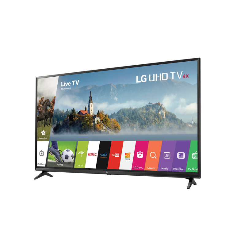 "49"" Class 4K UHD LED Smart TV & 52"" TV Console Bundle"