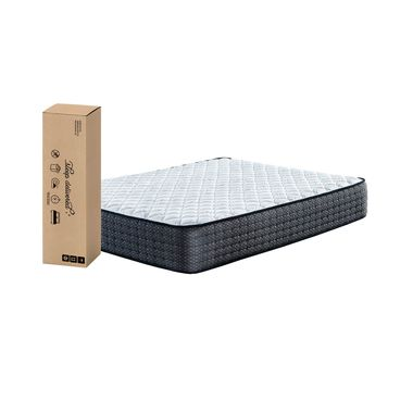 "11"" Tight Top Firm Twin Innerspring Boxed Mattress with Platform Frame"