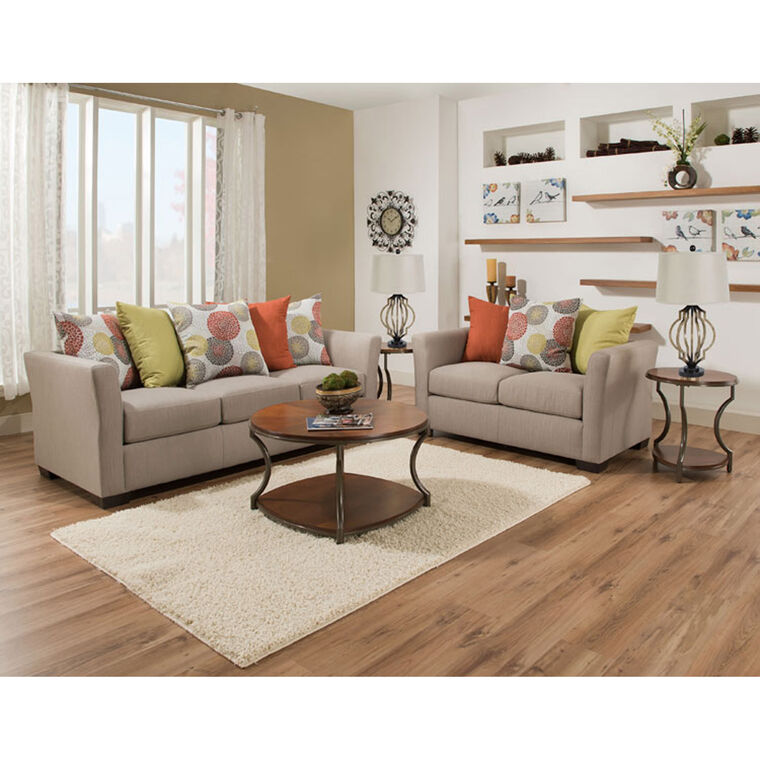 7 Piece Ember Living Room Collection With Spiral Lamps Aaron's