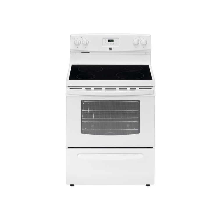 4.9 cu. ft. Electric Oven with Ceramic Cooktop - White at Aaron's in Lincoln Park, MI | Tuggl