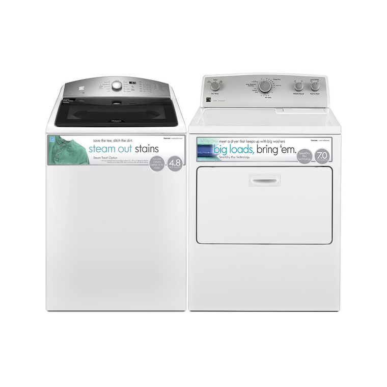 High Efficiency 4.8 cu. ft. Top-Load Washer & 7.0 cu. ft. Electric Dryer at Aaron's in Lincoln Park, MI | Tuggl