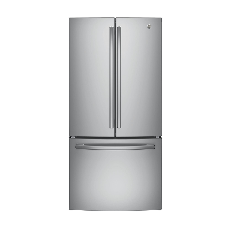 18.6 cu. ft. Energy Star Counter Depth French Door Refrigerator - Stainless