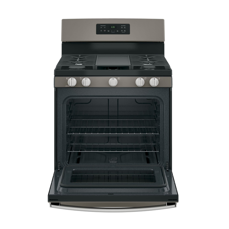 "30"" 5.0 cu. ft. Steam Clean Gas Range - Slate"