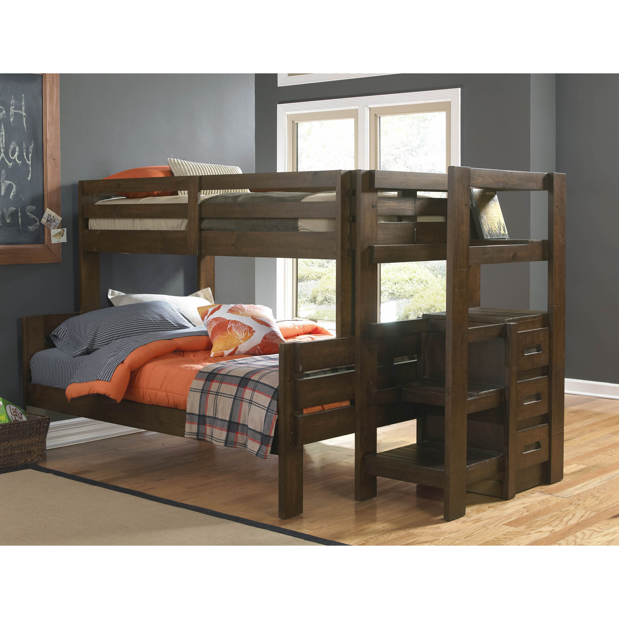 7 Piece Twin + Full Storage Bunk Bed
