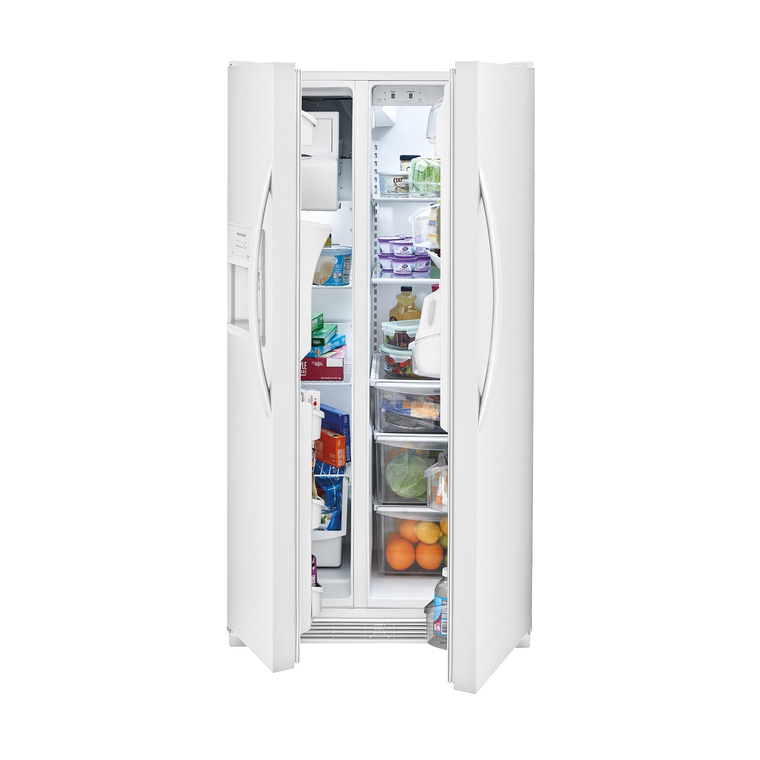 22 cu. ft. Side by Side Refrigerator - White