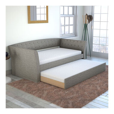 Wisteria Twin Daybed w/Trundle - Grey
