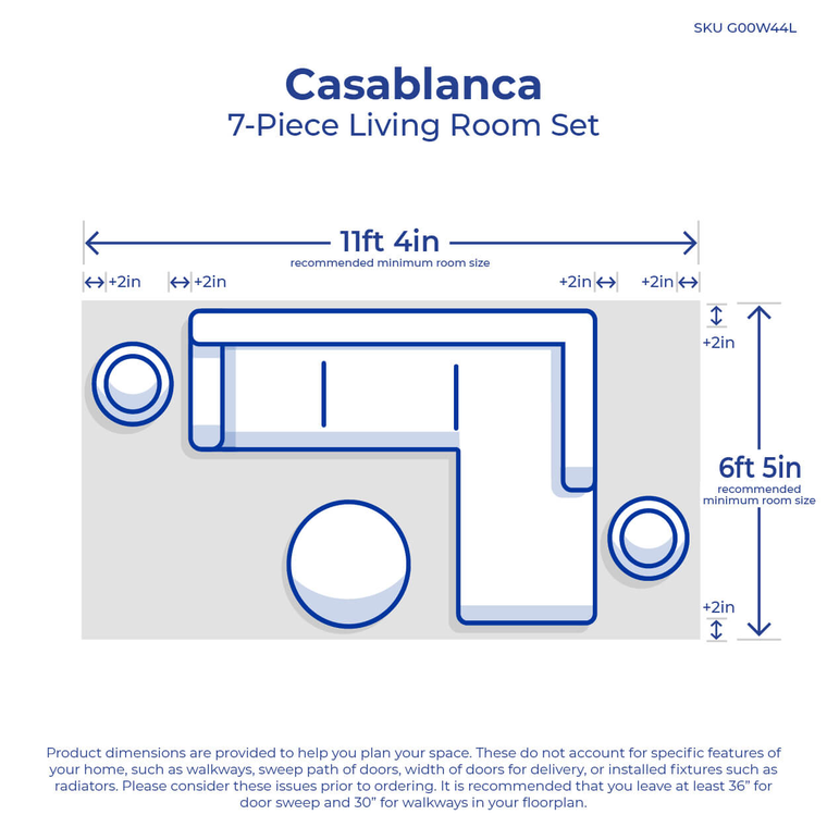 7-Piece Casablanca Sectional Living Room Collection