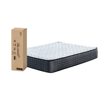 """11"""" Tight Top Firm Queen Innerspring Boxed Mattress with Platform Frame"""