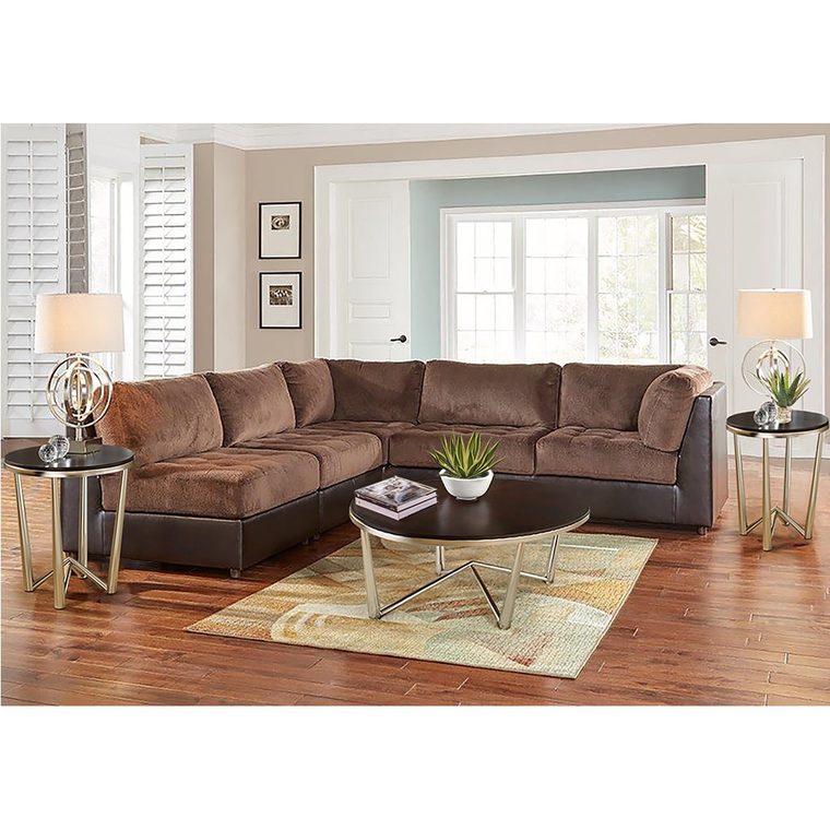 11-Piece Hennessy Modular Sectional Living Room Collection with Cocktail Table