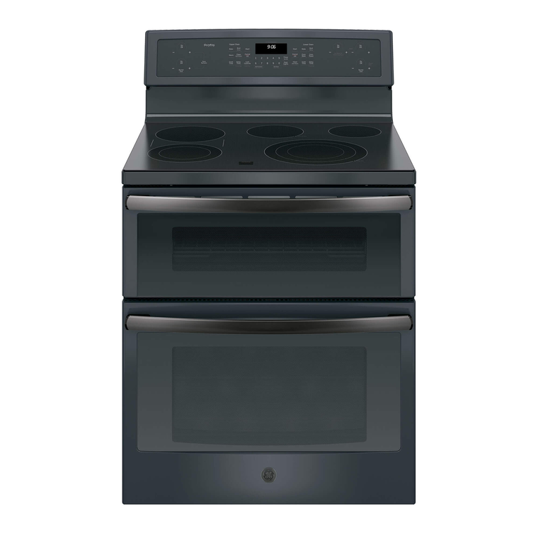 6.6 cu. ft. Self Cleaning Electric Double Oven Convection Range with Ceramic Cooktop - Slate