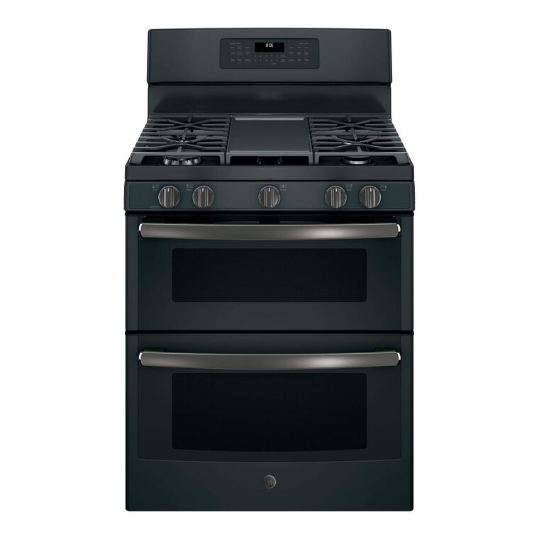 5.0 cu. ft. Self Cleaning Gas Double Oven Range - Slate