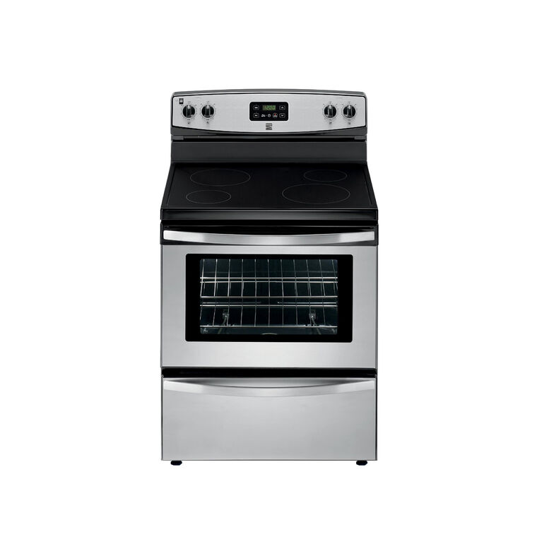 4.9 cu. ft. Electric Oven with Ceramic Cooktop - Stainless Steel