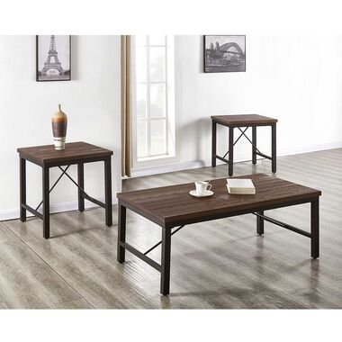3-Piece Jersey Cocktail & End Tables Bundle