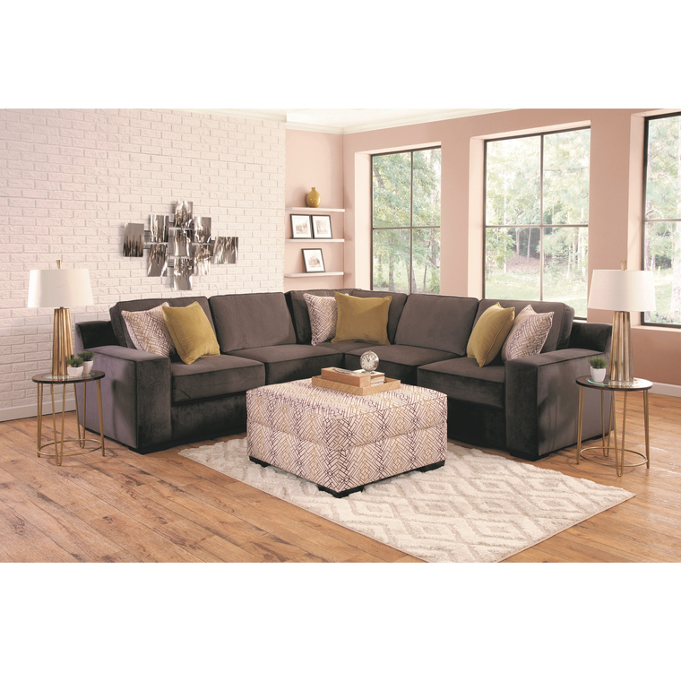 Furniture Furniture: Woodhaven Industries Sectionals 4-Piece Sonja Living Room