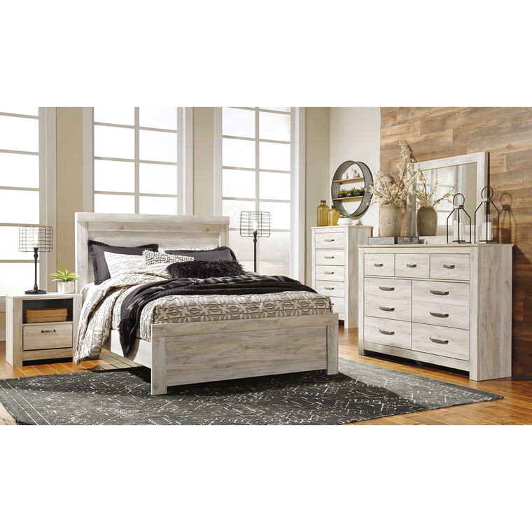 7-Piece Bellaby Whitewash Queen Bedroom Collection