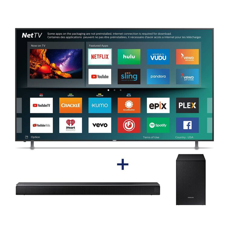"50"" Class Smart 4K UHD TV & 320W 2.1Ch Sound Bar Bundle"