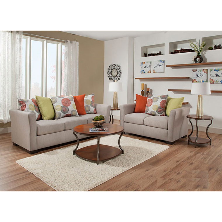 United Living Room Sets 7 Piece Ember Living Room Collection With Golden Bronze Lamps