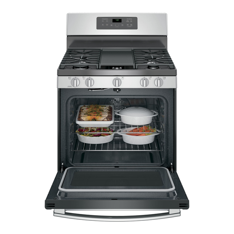 5.0 cu. ft. Steam Clean Convection Oven 5 Burner Gas Range - Stainless Steel