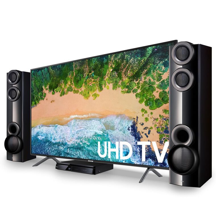 "55"" Class Smart 4K UHD TV & LG 1000W Home Theater System Bundle"