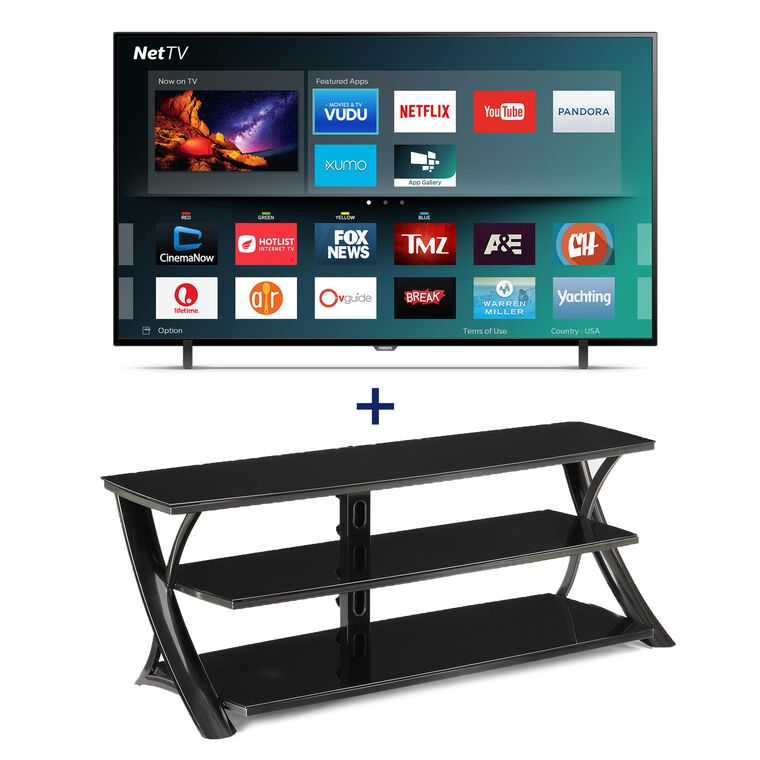 "65"" Class (64.5"" Diag.) Smart 4K UHD TV & 65"" TV Console Bundle"