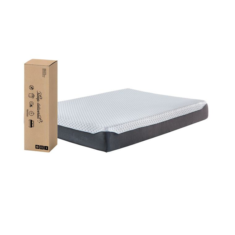 "10"" Tight Top Firm Queen Memory Foam Boxed Mattress with Platform Frame"