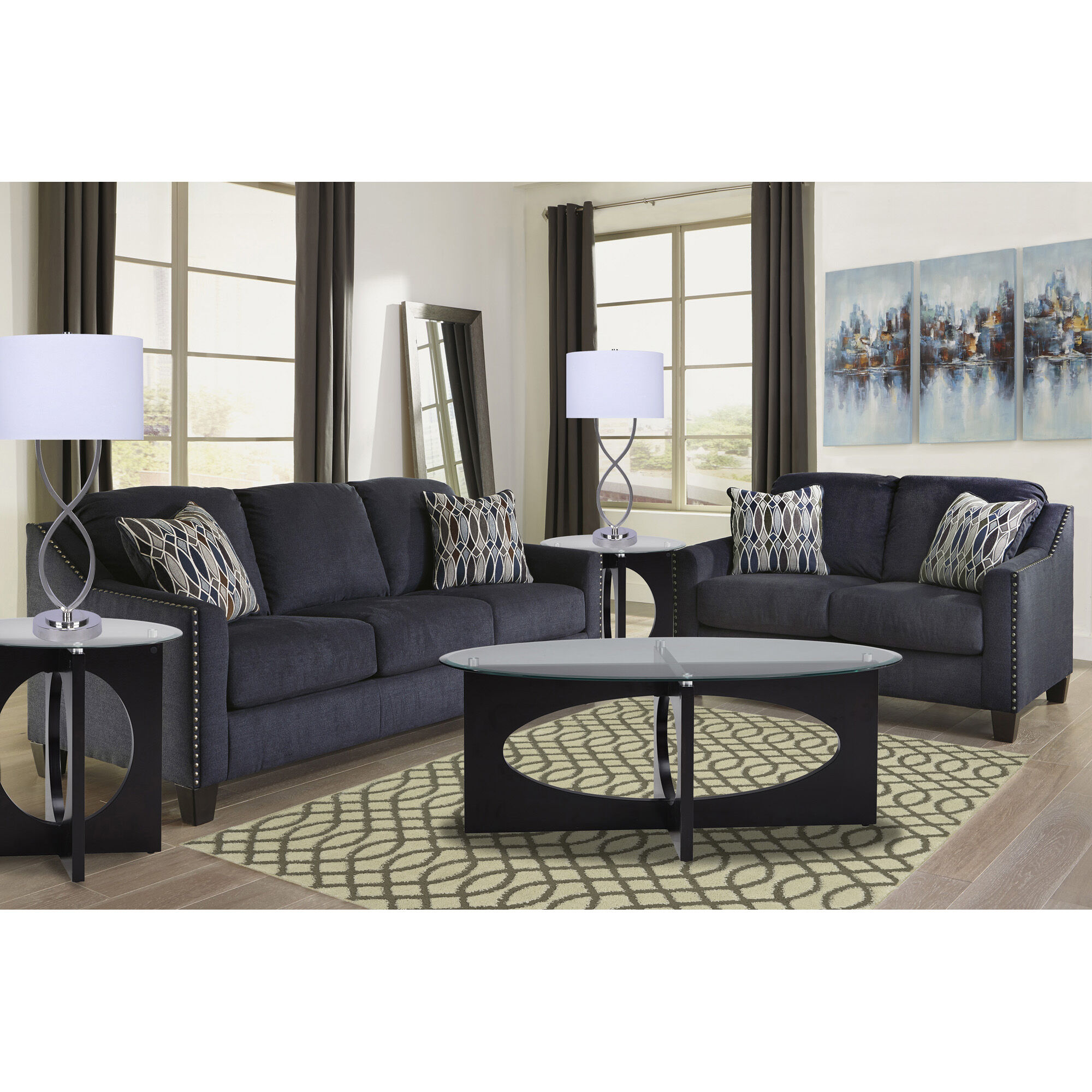 7 Piece Creeal Heights Living Room Collection Rent